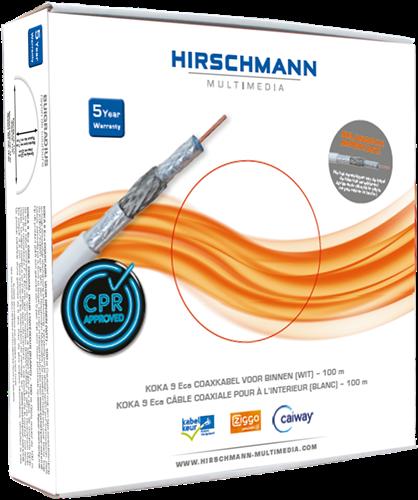 Hirschmann KOKA 9 Eca/100 m white