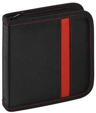 Vivanco organiser - 24x CD/DVD zwart/rood