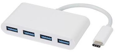 Vivanco USB C naar 4x USB 3.1 hub