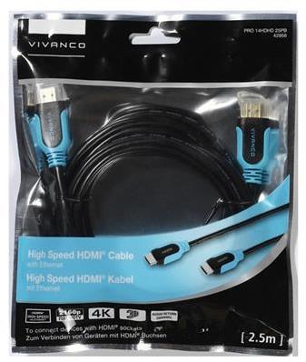 Vivanco Bulk HDMI kabel HSE 2.5m zwart/blauw