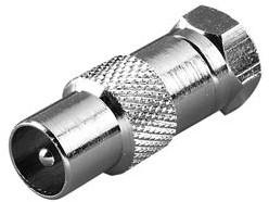 Vivanco F-plug <-> coax plug