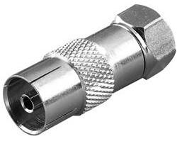 Vivanco F-plug <-> coax socket
