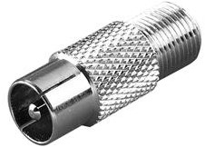 Vivanco F-socket <-> coax plug