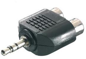 Vivanco Jack 3.5 plug <-> 2x RCA socket adapter