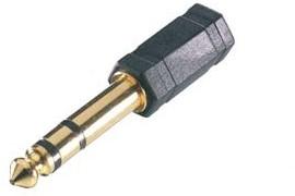 Vivanco Jack 6.35 plug <-> 3.5 socket adapter Gold