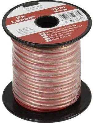 Vivanco luidsprekerkabel 1.5 mm - 10m transparant