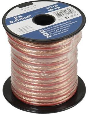 Vivanco luidsprekerkabel 2.5 mm - 10m transparant