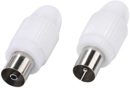 Vivanco Antenne pluggen coax plug&socket