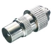 Vivanco Antenne coax plug metaal