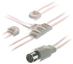 Vivanco Antenne kabel FM-UHF