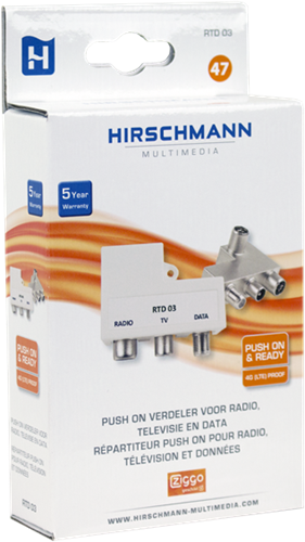 Hirschmann RTD 03 CATV Push-on adapter FM-TV-Data