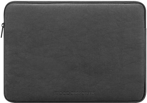"""Woodcessories Eco Sleeve MacBook 15/16"""" - Black Kraft Paper"""