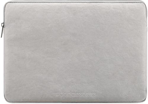 """Woodcessories Eco Sleeve MacBook 15/16"""" - Grey Kraft Paper"""