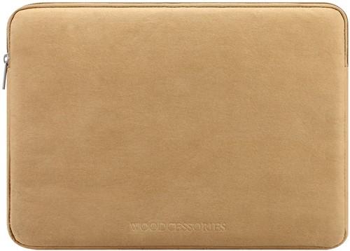 """Woodcessories Eco Sleeve MacBook 15/16"""" - Brown Kraft Paper"""