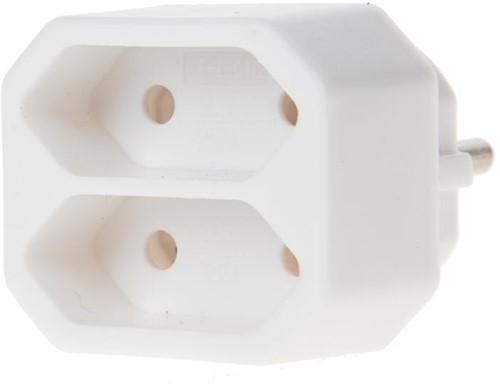 Deltac verdeelstekker 2x Euro socket
