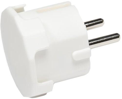 Deltac stekker randaarde plug wit