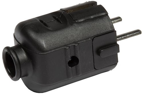 Deltac stekker randaarde plug zwart