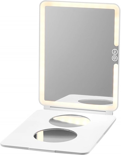 LuMee Studio Portable White Light Makeup Mirror - White