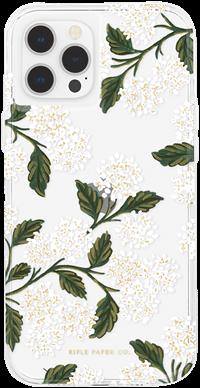 Rifle Paper iPhone 12 / 12 Pro - Hydrangea - White