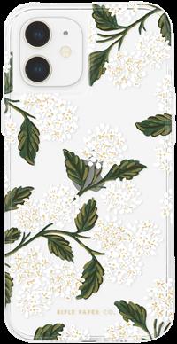 Rifle Paper iPhone 12 mini - Hydrangea - White