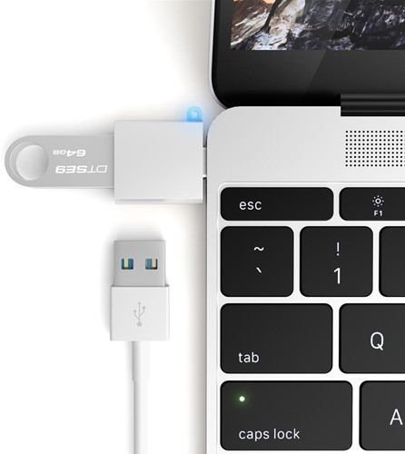 Satechi USB-C - Type A USB Adapter - Silver