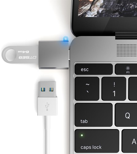 Satechi USB-C - Type A USB Adapter - Space Grey