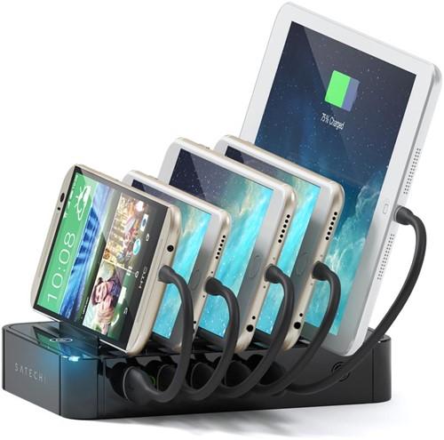 Satechi 5 USB & 2 USB-C Charging Station Dock - Black