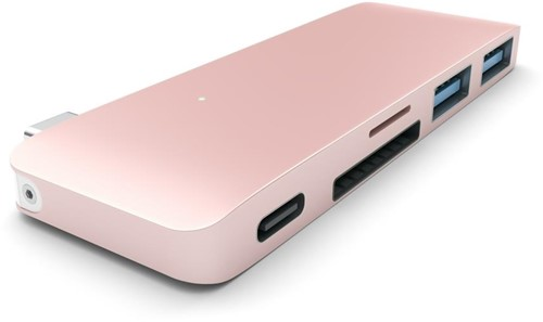 Satechi USB-C USB Passthrough Hub - Rose Gold