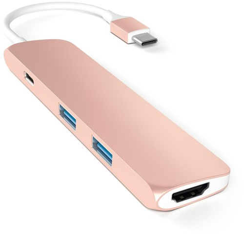 Satechi USB-C Multi-Port Adapter - Rose Gold
