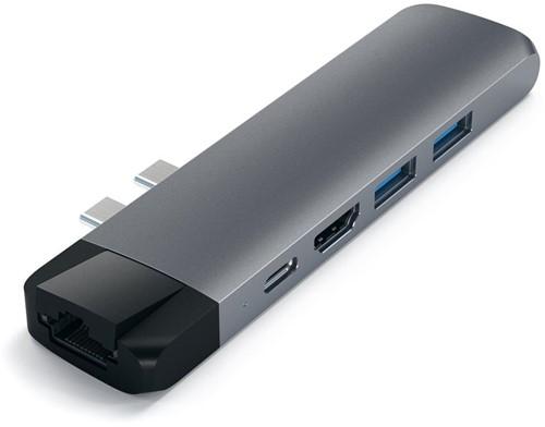 Satechi USB-C Pro Hub Ethernet & 4K HDMI - Space Grey