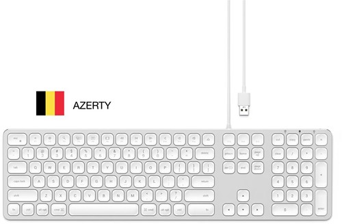 Satechi Wired Keyboard Silver AZERTY